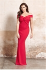 Jessica Wright Marina Red Knot Front Maxi Stretch Maxi Dress