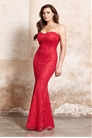 Jessica Wright Arizona Red Lace Fishtail Bandeau All Over Maxi Dress
