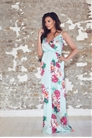 Jessica Wright Jayde Multi Floral Frill Maxi Dress