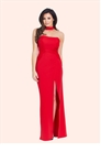 Jessica Wright Sassia Red Strapless Choker Maxi Dress