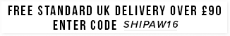 free uk delivery over £90 enter code shipss16