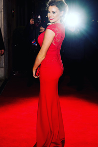 Jessica Wright wearing blair on red carpet