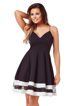 Jessica Wright Lula Monochrome Midi Dress
