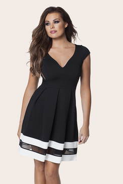 Jessica Wright Rula Monochrome Midi Dress