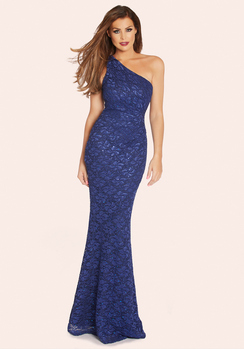 Jessica Wright Ally Cobalt Blue Sequin Maxi Dress