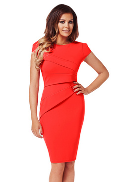 Jessica Wright Vicky Red Midi Bodycon Dress