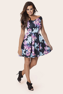 JESSICA WRIGHT AMELIA BLUE FLORAL DRESS