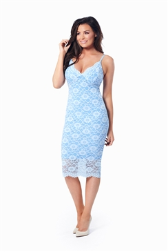 Jessica Wright Savannah Cornflower Blue Lace Bodycon Cami Dress