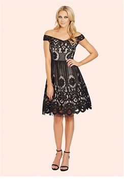 Sistaglam Emmaline Crochet Prom Dress