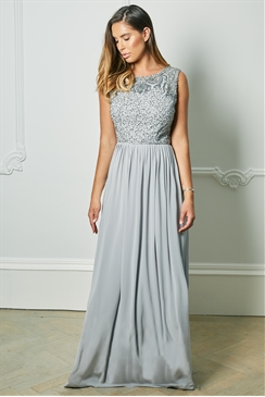 Special Edition Jessica Rose Samie Grey Sequin Detail Maxi Dress