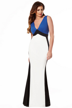 JESSICA WRIGHT DANIELLA MAXI BLUE DRESS