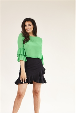 Jessica Wright Gennie Green Frill Sleeve Top