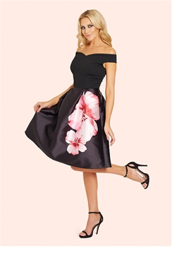 Sistaglam Levana 2 in 1 Floral Sateen Prom Dress