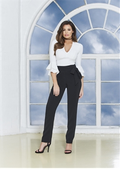 Jessica Wright Saskia White Ruffle Sleeve Blouse