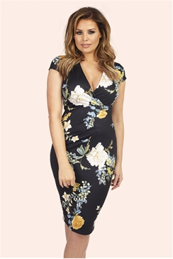 Jessica Wright Pandora Oriental Floral Bodycon Dress