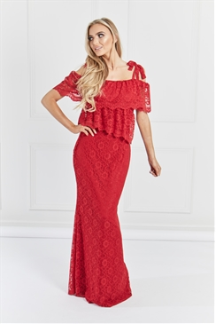 Sistaglam Hazel Red Maxi Dress