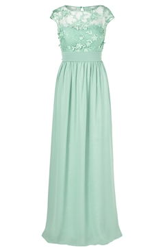 Sistaglam Beverley jade Lace Bridesmaid Maxi Dress
