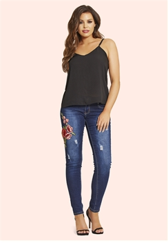 Jessica Wright Jaime Embroidered Jeans