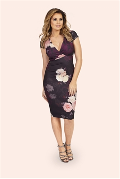Jessica Wright Dorothy Floral Bodycon Midi Dress