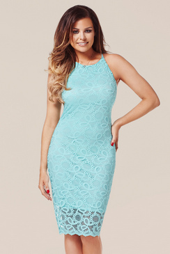 JESSICA WRIGHT MINNIE STRETCH LACE DRESS WITH STRAPS