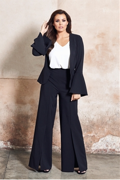 Jessica Wright Gleicy Black Tailored Frill Sleeve Jacket