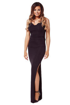 Jessica Wright Audrina Black Maxi Dress