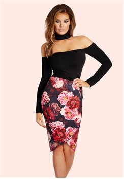 Jessica Wright Bonnie Black Bandeau Choker Top