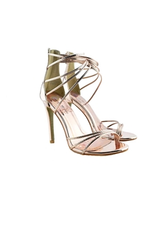 Jessica Wright Claudette Rose Gold Strappy Stiletto Heels