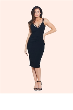 Jessica Wright Amora Black Midi Dress