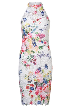 Sistaglam Loves Jessica Wright Larissa Printed Crochet Dress