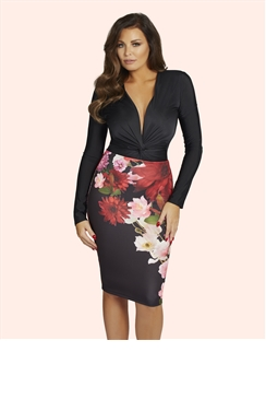 Jessica Wright Bobbi Floral Bodycon Pencil Skirt