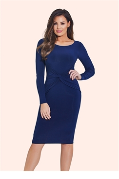 Jessica Wright Lauren Navy Bodycon Midi Dress