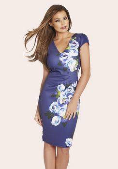 Jessica Wright Abi Floral Pleated Midi Dress