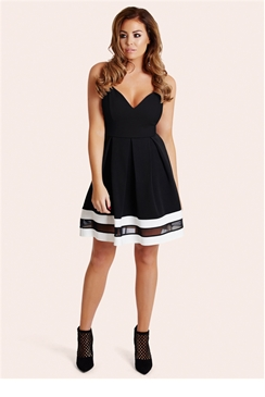 Jessica Wright Talula Monochrome Skater Dress