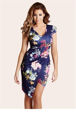 Jessica Wright Abbey Blue Floral Shift Midi Dress