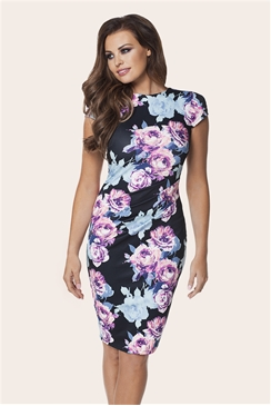 Jessica Wright Eden Blue Floral Bodycon Dress
