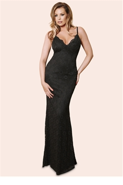 Jessica Wright Netty Black Lace Cami Strap Maxi Dress