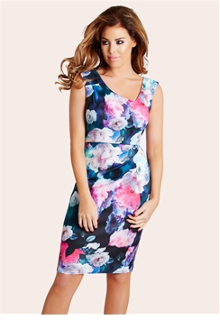 Jessica Wright Sophia Floral Print Midi Dress