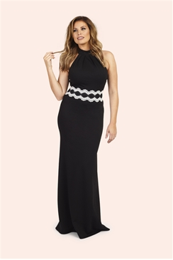 Jessica Wright Airiel Black Halterneck Maxi Dress