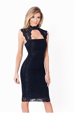 Sistaglam Aubrey Black Bodycon Dress