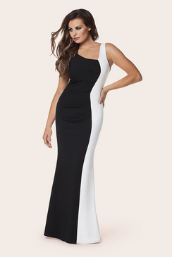 Jessica Wright Deelia Monorchrome Ruched Maxi Dress