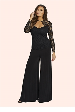 Jessica Wright Keera Black Wide Leg Trousers