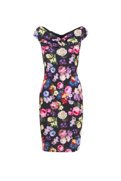 JESSICA WRIGHT AIDA DRESS- BLACK FLORAL
