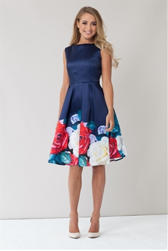 Sistaglam Lina Multicolour Floral Prom Dress