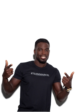 Sistaglam Marcel '#Team Marcel' Black Print Cotton T-shirt