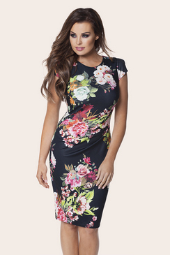 Jessica Wright Eden Floral Print Bodycon Dress