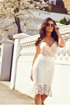 Jessica Wright Matilda Cream Lace Skirt
