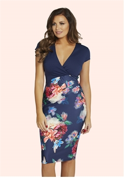 Jessica Wright Jolie Multicolour Bodycon Floral Dress