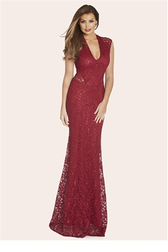 Jessica Wright Becky Berry Sequin Maxi Dress