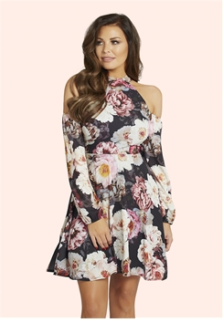 Jessica Wright Violet Multicolour Floral Shift Dress